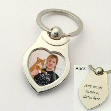 Cat Loss Keyring, Any Photo and Engraving| Someone Remembered
